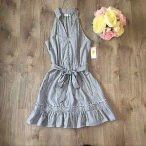 NWT Takara Striped Midi Dress